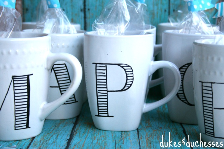 Anthropologie-inspired DIY personalized mugs