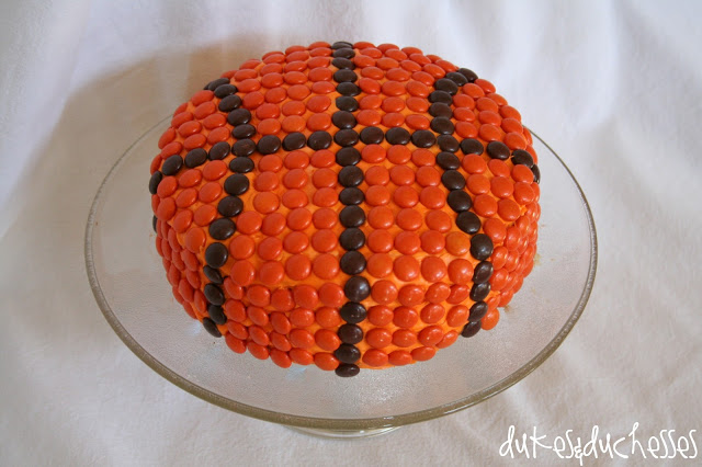 simple basketball cake