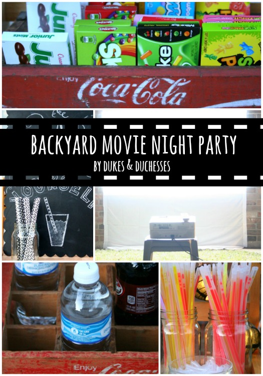 backyard movie night party
