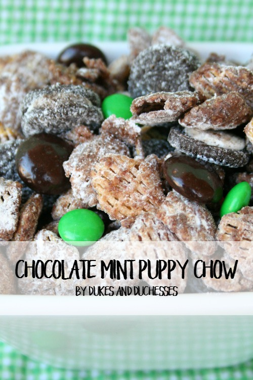 Chocolate Mint Puppy Chow | St. Patrick's Day Recipe Idea by Randi Dukes