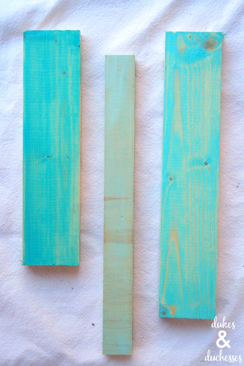 color washed wood