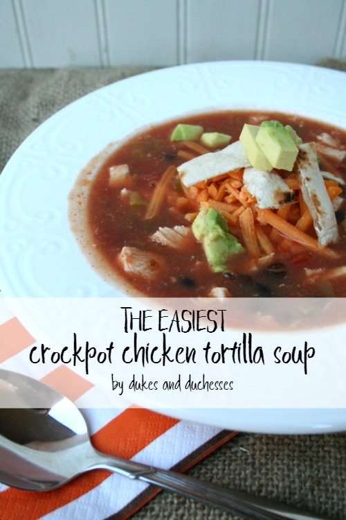 easiest crockpot chicken tortilla soup