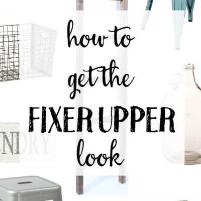How to Get the Fixer Upper Look on Amazon