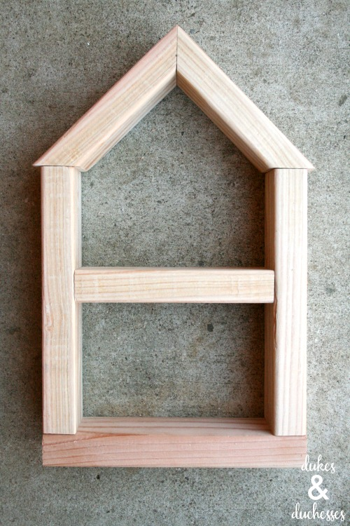 frame of dollhouse shelf
