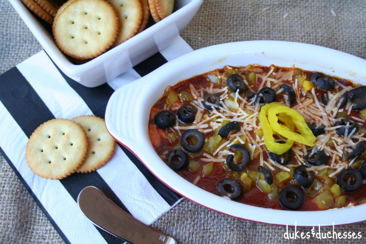 hot italian dip with crackers