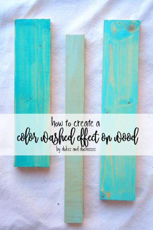 how to create a color washed effect on wood