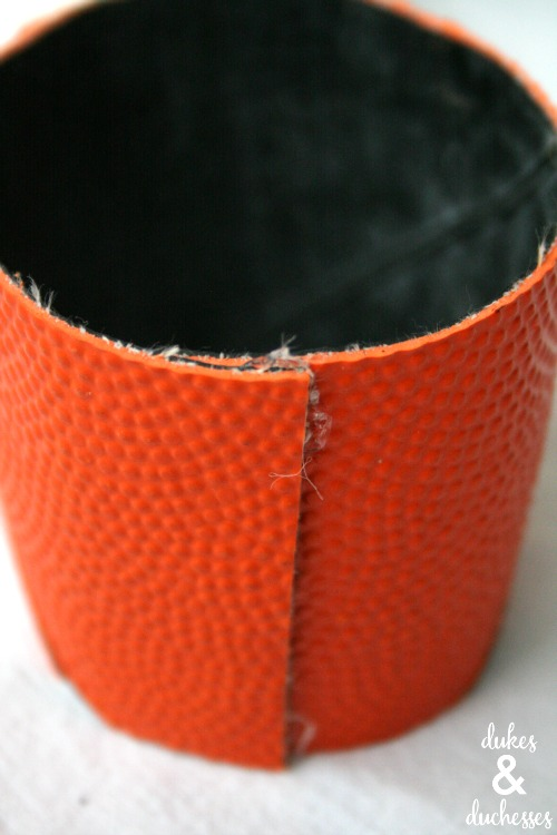 how to make a coffee cuff from a basketball