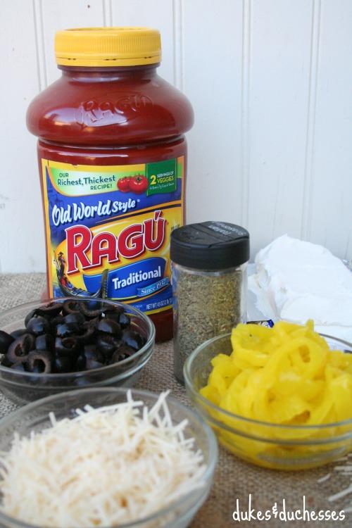 ingredients for hot italian dip appetizer