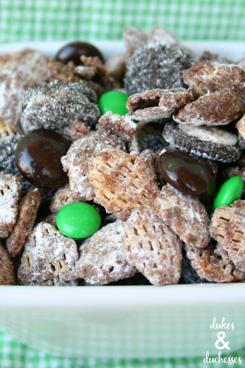 mint chocolate puppy chow recipe