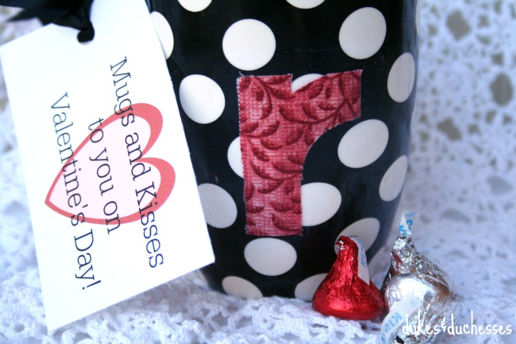 monogrammed mug gift idea