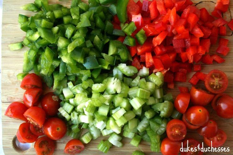 vegetables for chicken pasta salad