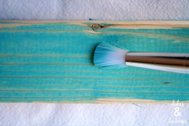 washing paint on wood