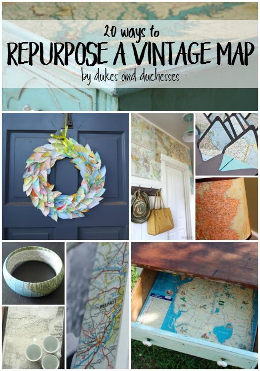 20 ways to repurpose a vintage map