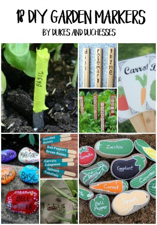 18 DIY Garden Markers - Dukes and Duchesses