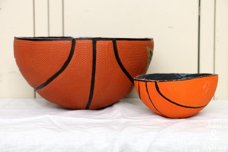 bowls made from basketballs