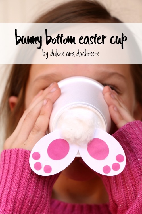bunny bottom easter cup