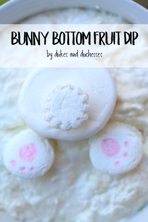 bunny bottom fruit dip