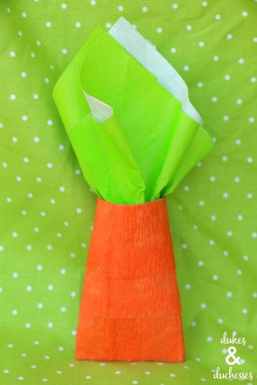 repurposed carrot party favors