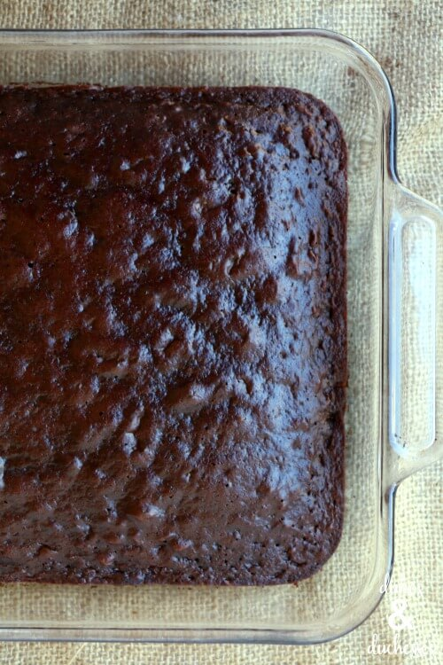 chocolate cake for poke cake