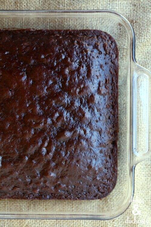 chocolate cake for poke cake