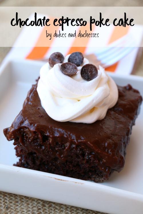 chocolate espresso poke cake