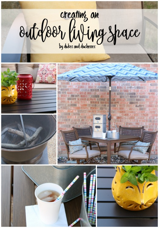 Creating an outdoor living space dukes and duchesses for Creating an outdoor living space