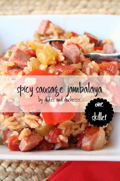 spicy sausage jambalaya