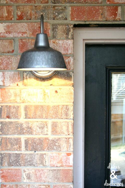 outdoor light fixture installed