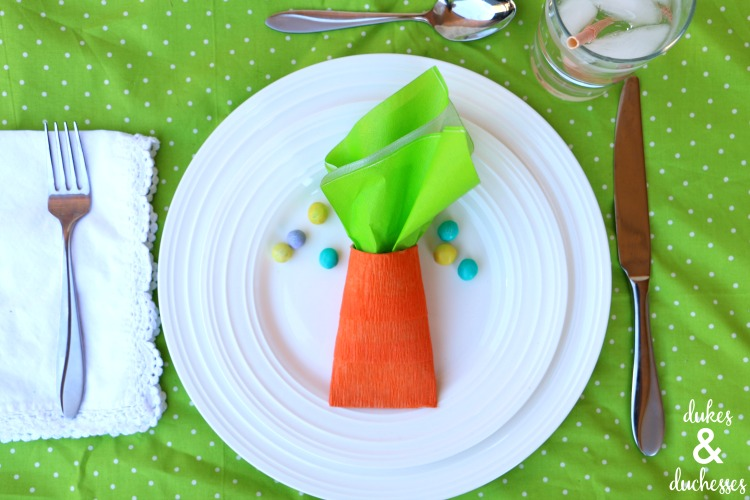 repurposed carrot party favors for easter