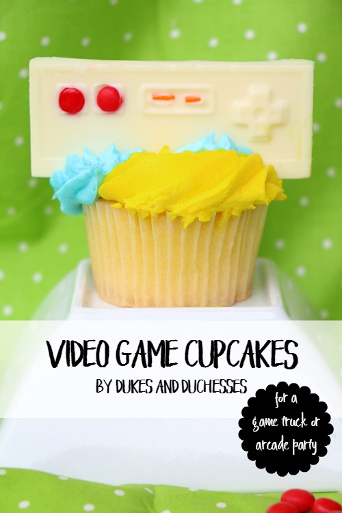 video game cupcakes for an arcade or game truck party