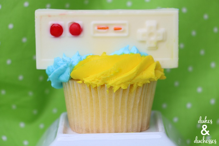 video game or game truck cupcakes