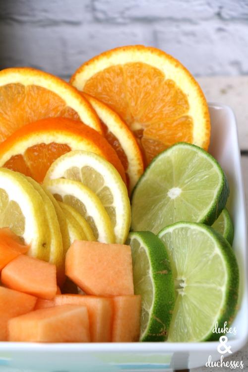 fruit garnish for wine spritzer bar