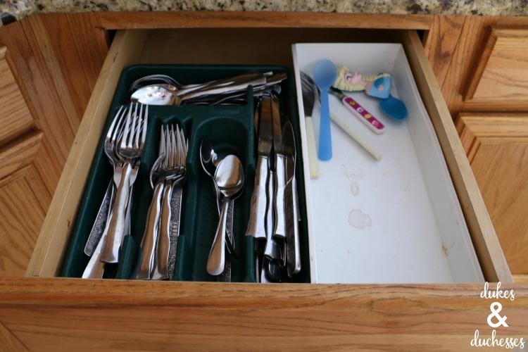 old utensil drawer organization