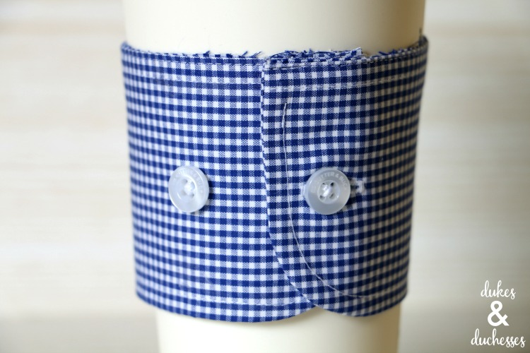 shirt cuff coffee sleeve