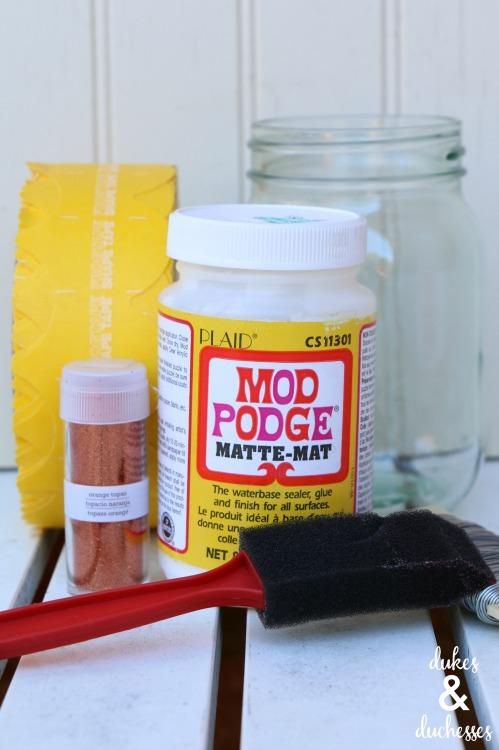 supplies for scalloped may day mason jar