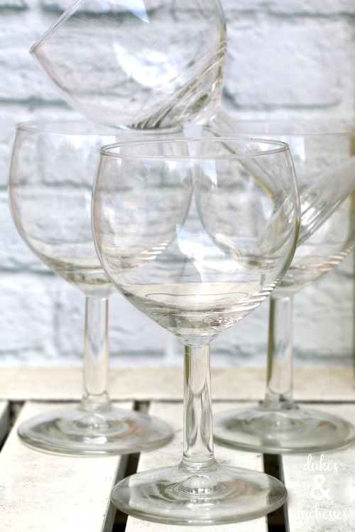 wine glasses for wine spritzer bar