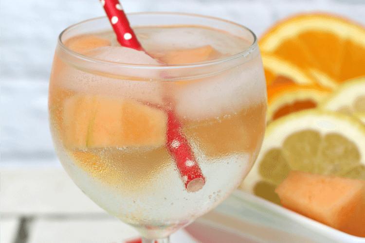 wine spritzer with fruit