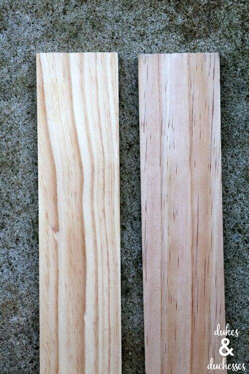 wood for DIY drawer divider