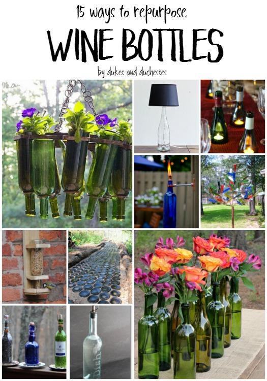 15 ways to repurpose wine bottles