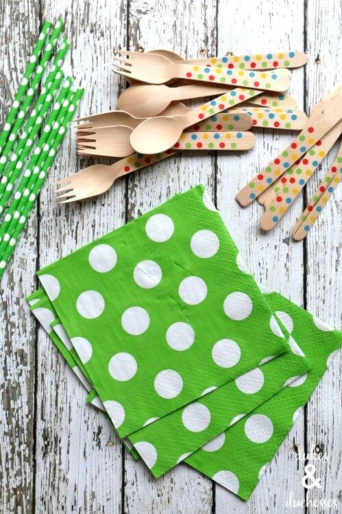 folded napkin pockets