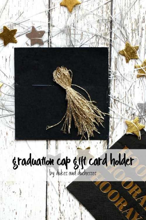 graduation cap gift card holder