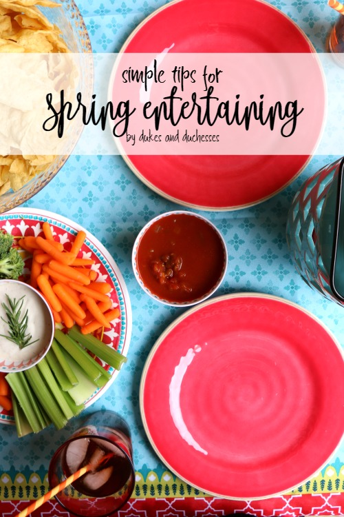 simple tips for spring entertaining