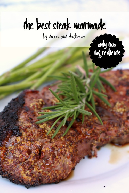 two ingredient steak marinade