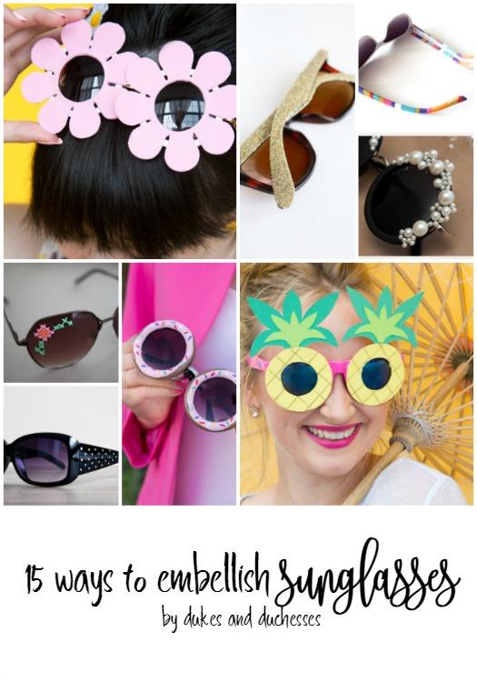 15 ways to embellish sunglasses