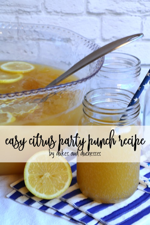 citrus party punch recipe