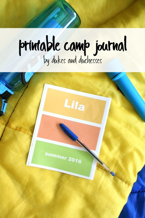 printable summer camp journal