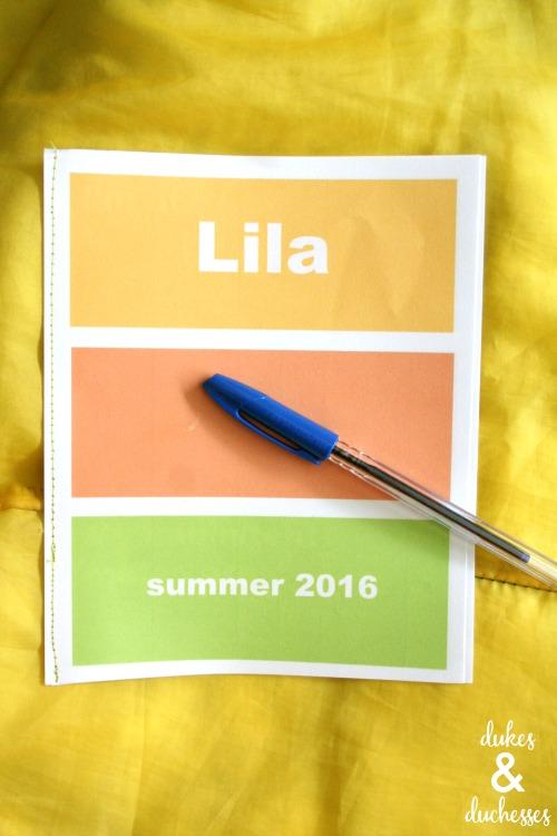 printable camp journal