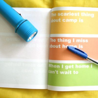 Printable Summer Camp Journal for Kids
