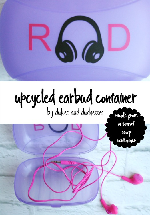 upcycled earbud container