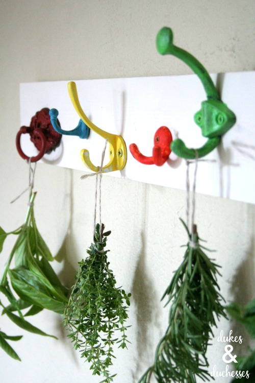 DIY herb drying rack